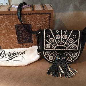 ❤️Brighton Leather Crossbody Handbag - Casablanca